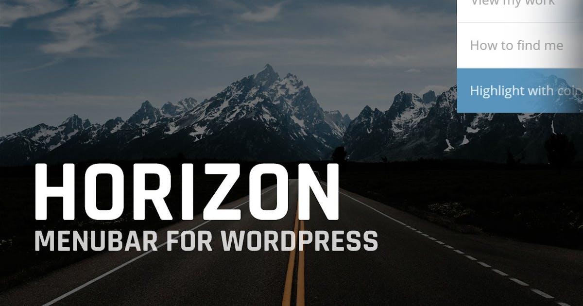 Download Horizon: Menubar for WordPress by BonfireThemes