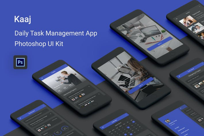 Thumbnail for Kaaj - Daily Task Management Photoshop UI Kit