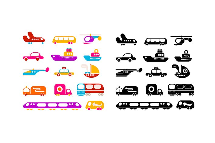 Thumbnail for Large set of Transportation vector icons