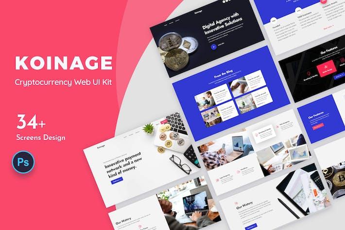 Koinage Криптовалюта Web UI Kit