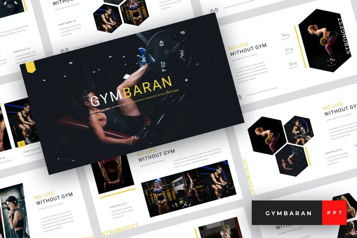 Thumbnail for Gymbaran - Gym PowerPoint Template