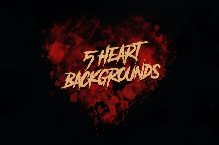 Cover Image For Dark Grunge Hearts