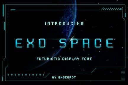 Fuente de visualización futurista Exo Space