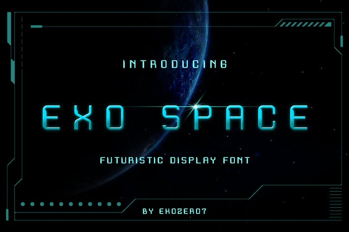 Thumbnail for Fuente de visualización futurista Exo Space