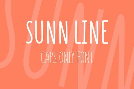 SUNN Line Caps Only Font