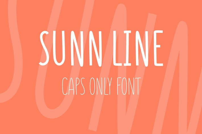 Cover Image For SUNN Line Caps Only Font