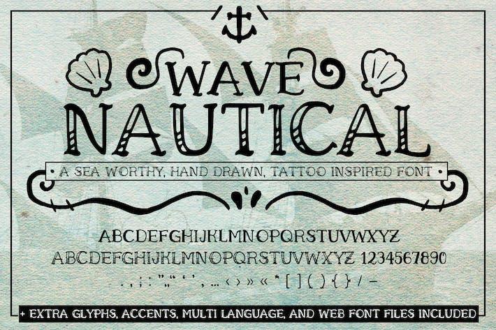 Wave Nautical Font (Handwritten Tattoo Web Fonts)