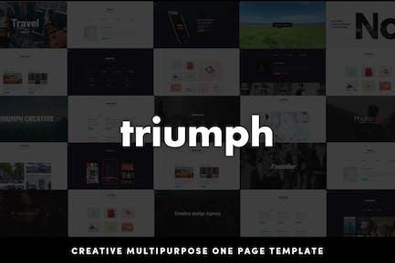 Triumph - Creative Multipurpose One Page HTML Temp