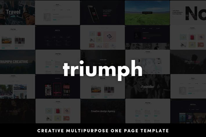 Thumbnail for Triumph - Creative Multipurpose One Page HTML Temp