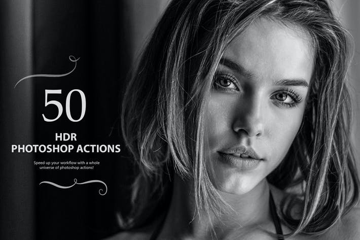 Thumbnail for 50 HDR Photoshop Actions - Vol 1