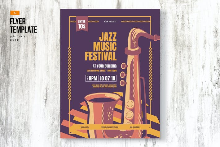 Thumbnail for Jazz Music Event Festival Flyer