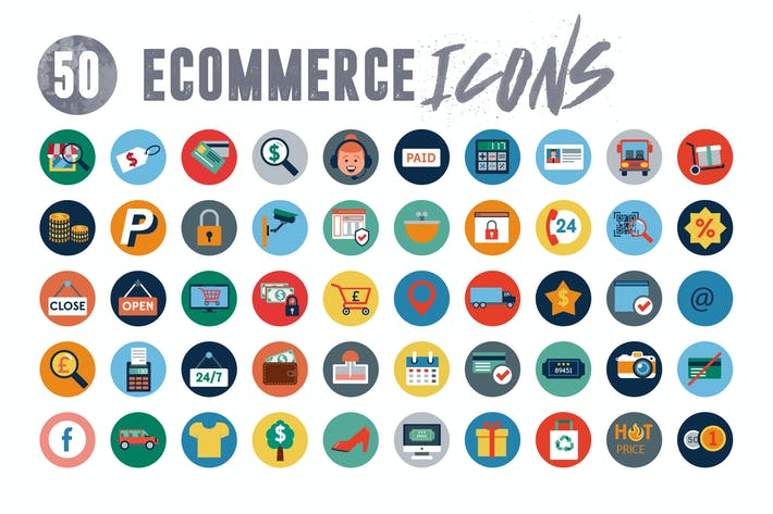 Thumbnail for 50 Ecommerce Icons