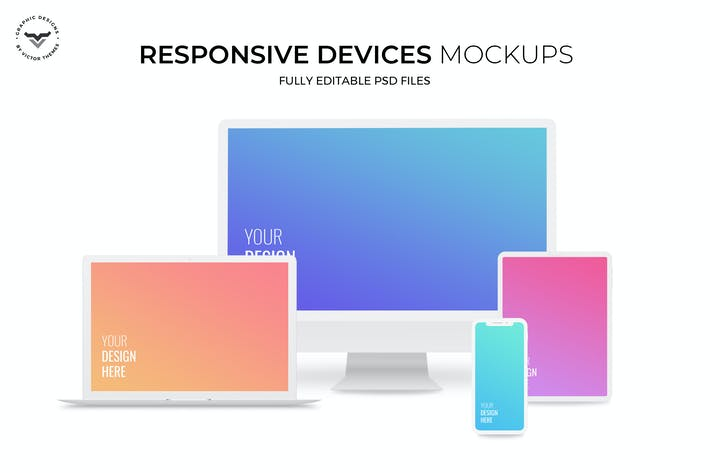 Thumbnail for Responsive Devices Mockups