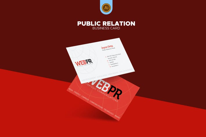 Thumbnail for Public Relations Business Card 03