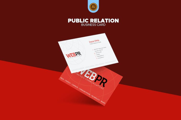 Public relations business card 03 by afahmy on envato elements cover image for public relations business card 03 colourmoves