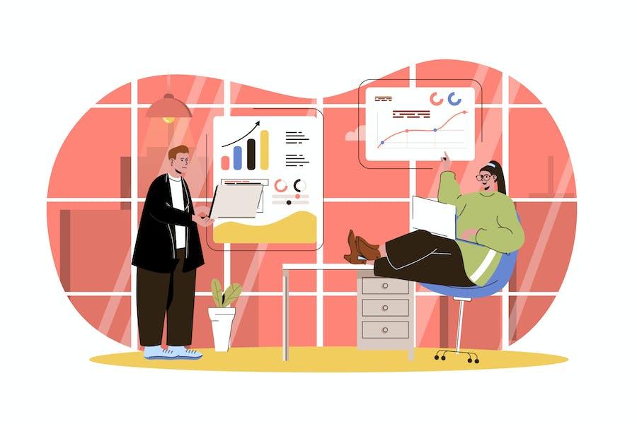 Big Data Analysis Web Concept