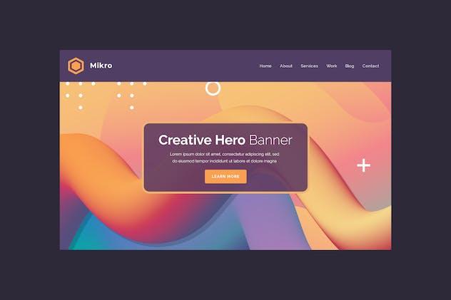 Mikro - Hero Banner Template