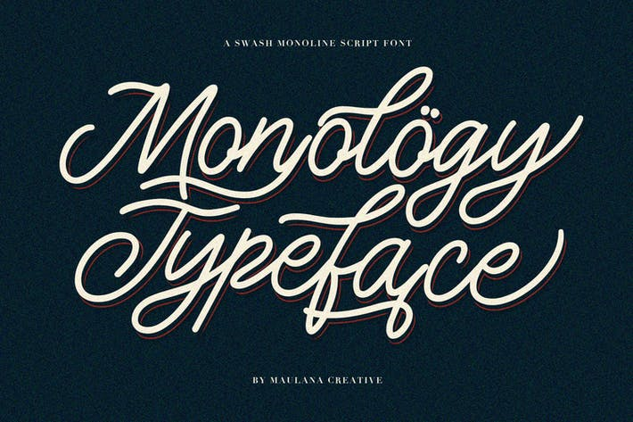 Thumbnail for Monology Swash Script Vintage Police