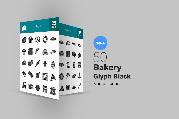 Thumbnail for 50 Bakery Glyph Icons