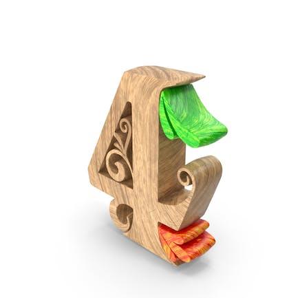 Wooden Number 4