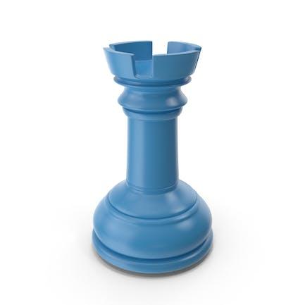 Schach Turm Blau