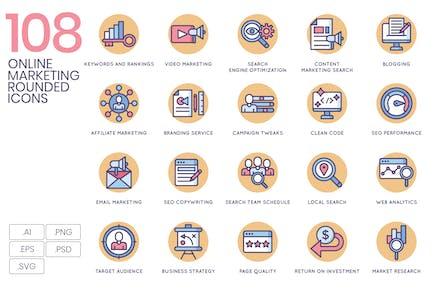 Íconos de marketing online