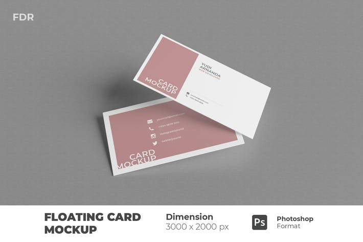 Floating Business Card