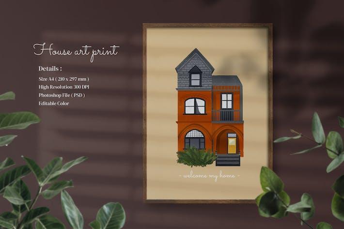 Thumbnail for house print art