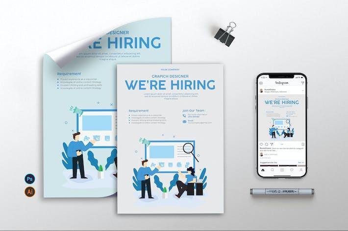 Thumbnail for Job Hiring - Flyer, Poster & Instagram KF