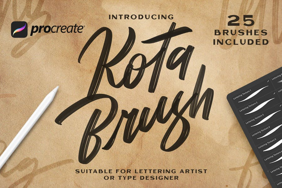Kota Brush Lettering -  Procreate Brush