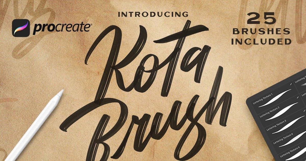Download Kota Brush Lettering -  Procreate Brush by Streakside
