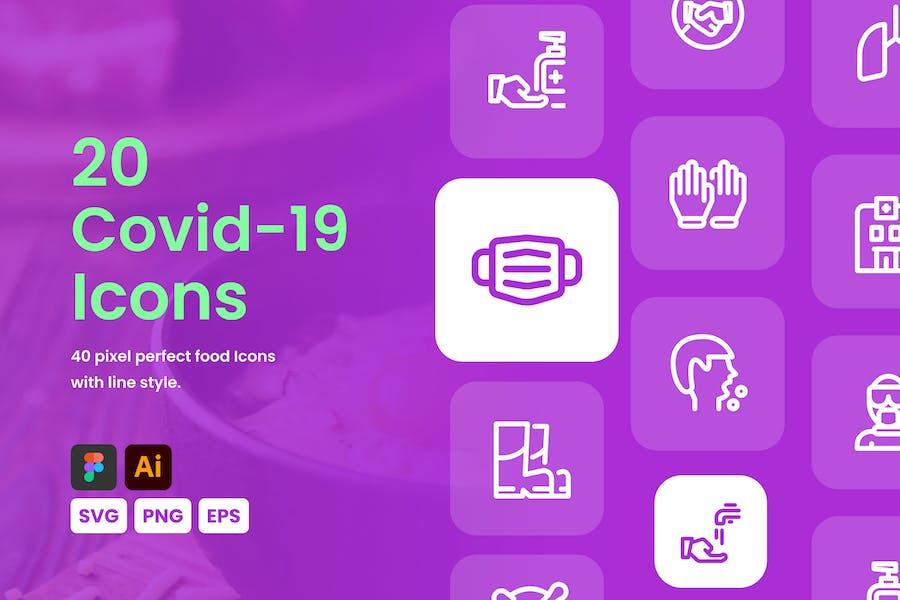 Covid-19 Line Icons