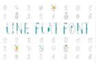 Line Flat font + line flat icon