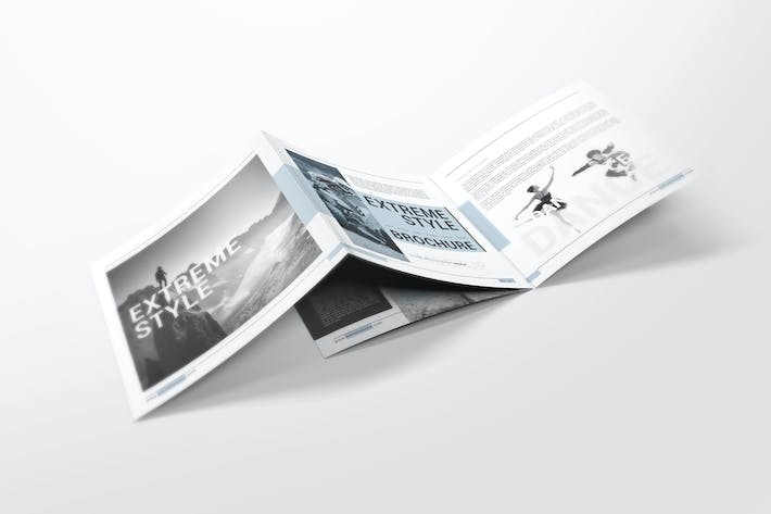 Thumbnail for Square Bifold Brochure Mockups