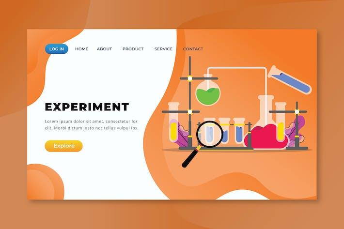 Experiment - XD PSD AI Vector Landing Page