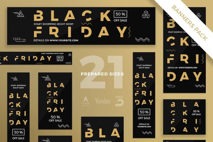 Thumbnail for Black Friday Sale Banner Pack Template