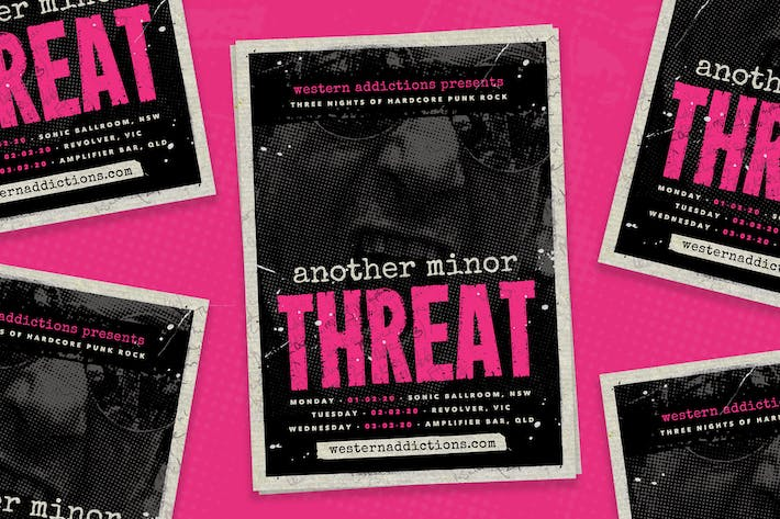 Thumbnail for Another Threat — Punk Rock Flyer Template