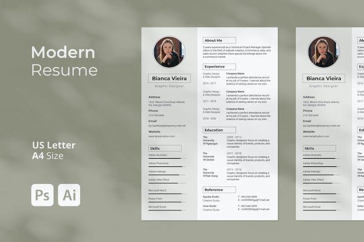 Thumbnail for Modern Resume