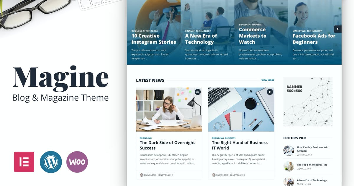 Download Magine - Business Blog WordPress Theme by egemenerd