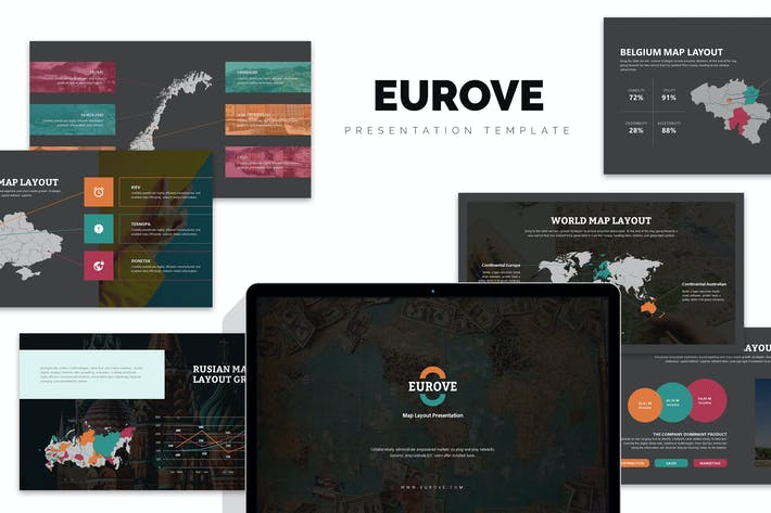 Thumbnail for Eurove : Europe Region Vector Map Powerpoint