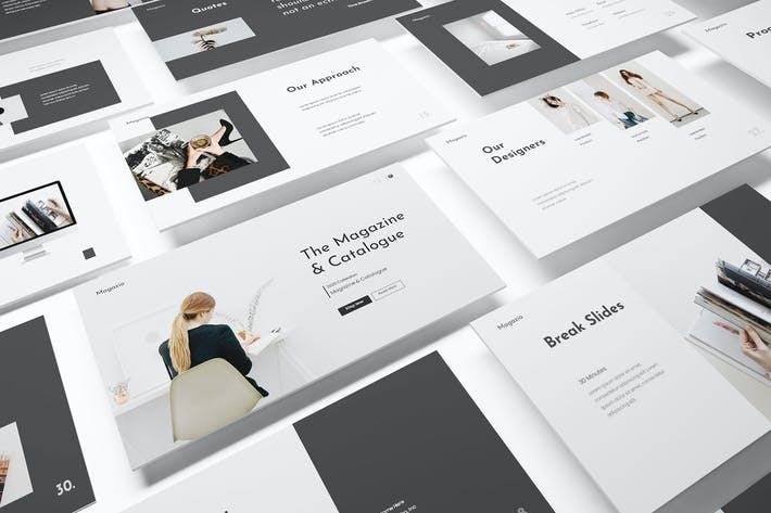 Thumbnail for Magazine Lookbook Powerpoint Template