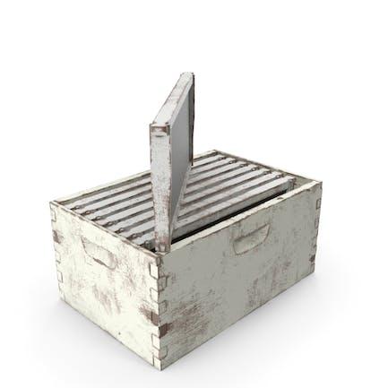 Bemalte Honigbiene Box