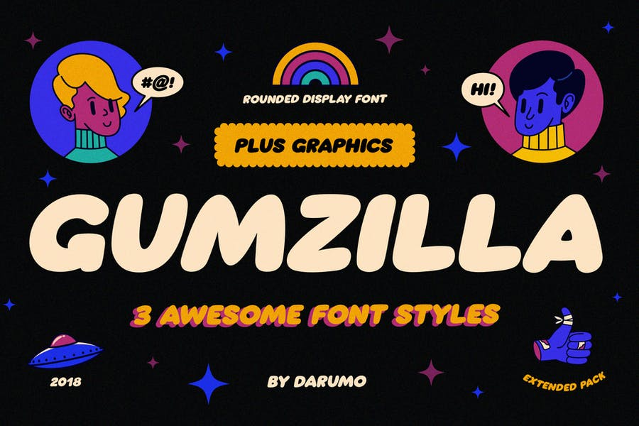 Pack graphique Gumzilla Font Plus