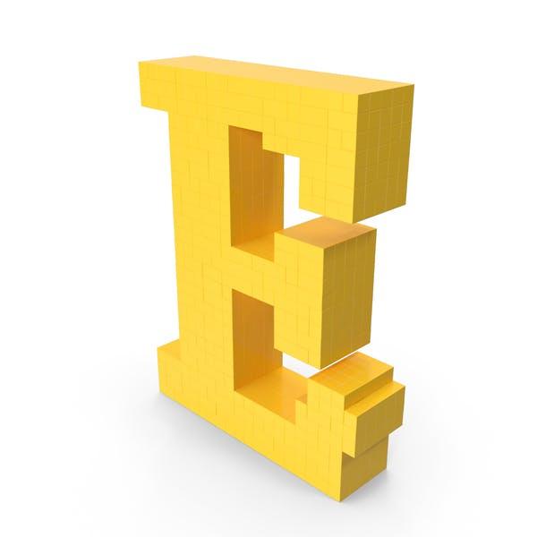 Пиксельная художественная буква E