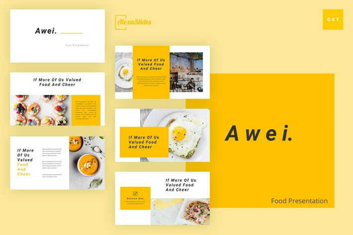 Thumbnail for Awei - Food Google Slides Template