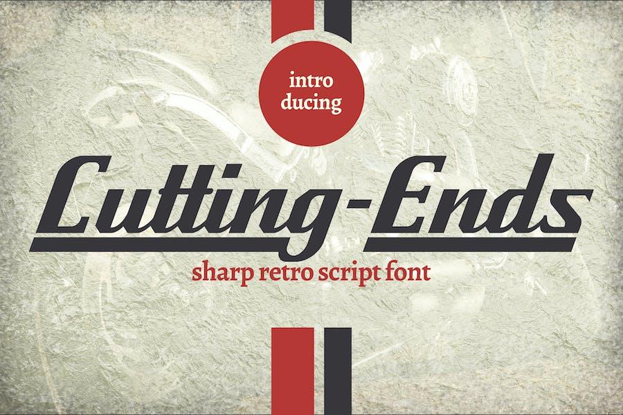 Futting-Ends | Font de script rétro