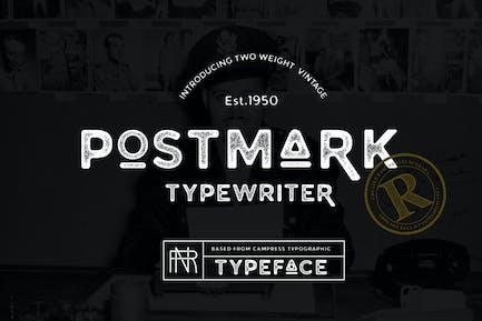 Postmark Typewriter.