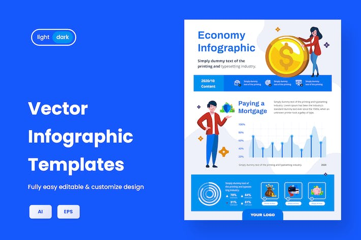 Infographic Template for Finance & Business V.03