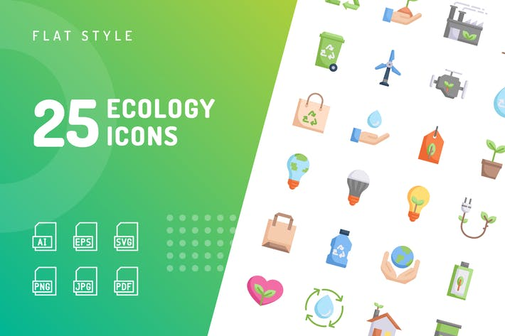 Thumbnail for Ecology Flat Icons