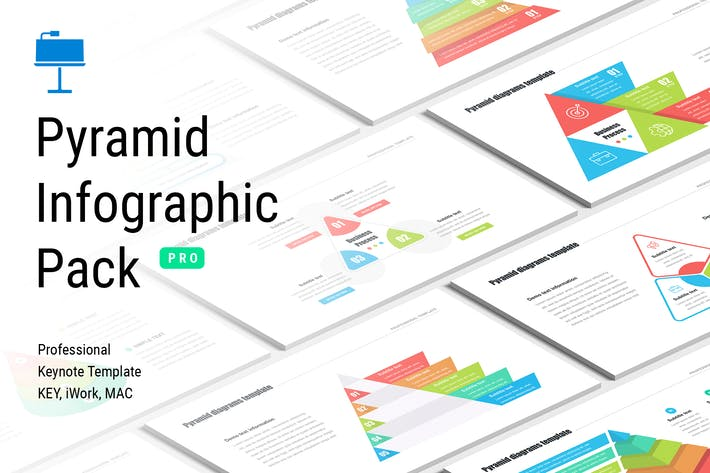 Pyramid infographic pack for Keynote